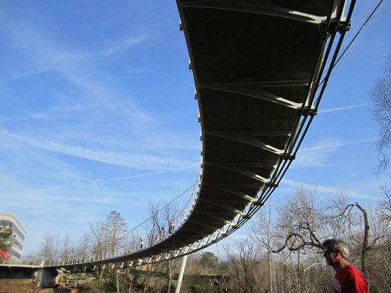 Falls Park on the Reedy : The bridge at Falls Park