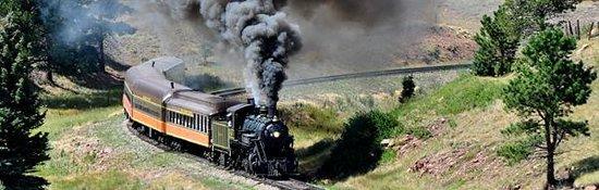 Rio Grande Scenic Railroad: The Steam Engine winds it's way up the Sangre de Christos