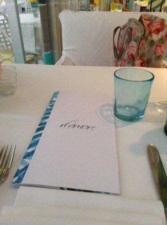 Ristorante D'Amore : menu