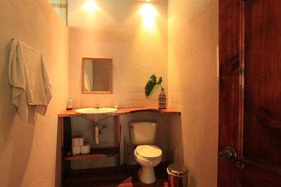 Upstairs half bath at The Jungle House, Santa Teresa Costa Rica vacation rental.