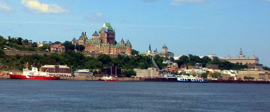 "Old Quebec: the ""Château Frontenac"" from the ferry between Québec and Lévis"