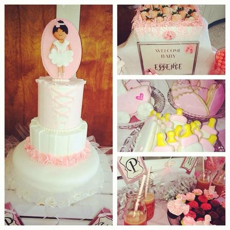 Ballerina Baby Shower Cake And Dessert Table Picture Of Southern