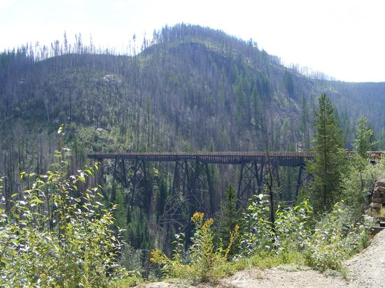 Myra Canyon Park: One of many trestles