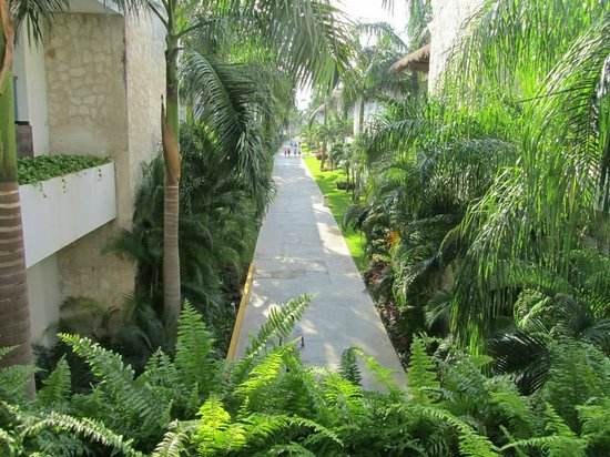 Grand Sunset Princess All Suites Resort : the walk way between our section and the lobby.... amazing