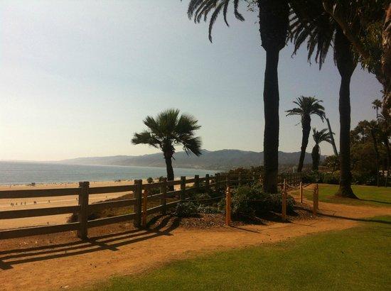 Santa Monica State Beach : Vue d'Ocean Avenue