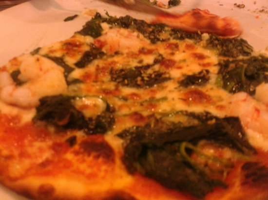 PIZZERIA DON VITO: Pizza mit Spinat & Gambas!