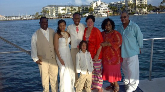 Sebago Key West: family photo enjoying Sebago!