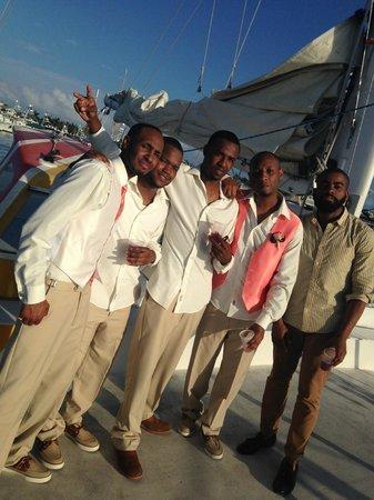 Sebago Key West: Groomsmen... brothers & friends on board!