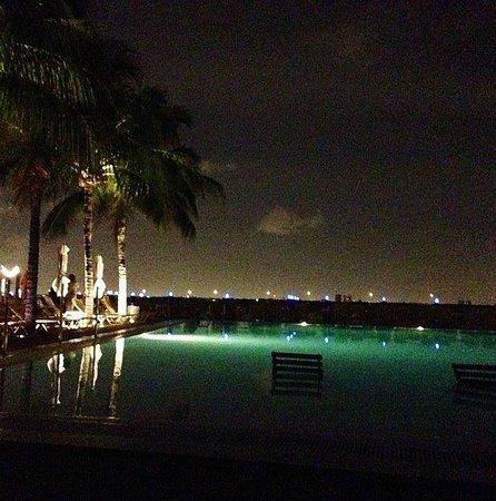 The Standard, Miami : Night swim at the pool.