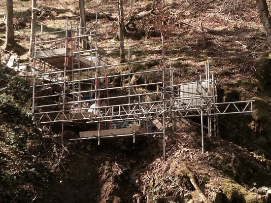 Aira Force : Repair of stairway to bottom of the Force.