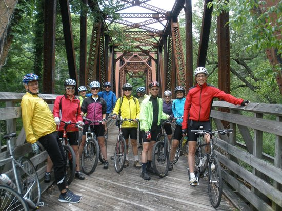 Greenbrier River Trail: Bike club on an excursion up the river trail