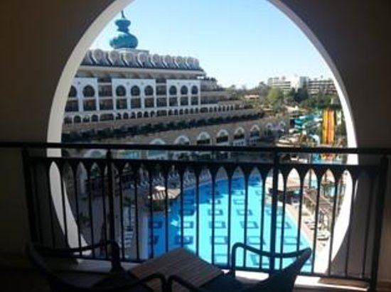 Crystal Sunset Luxury Resort & Spa: Balcony with swiming pool view