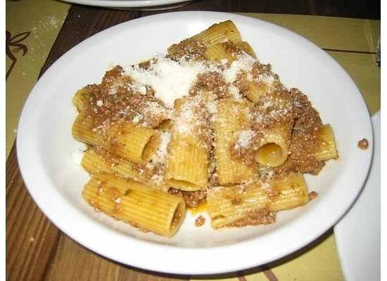 La Burrasca: pasta with deer sauce