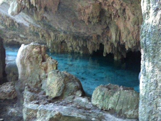 Riviera Adventours: entrance to underwater cenote