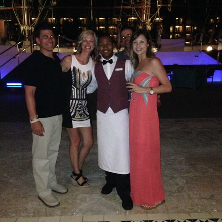 Iberostar Grand Hotel Bavaro: Pic with one of our excellent servers at Surf N' Turf