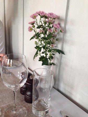 Hotel Saxkjoebing: Stemningsbillede fra bordet