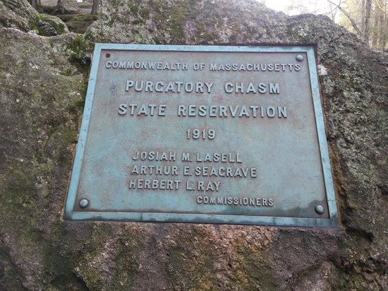 Purgatory Chasm State Reservation: plaque