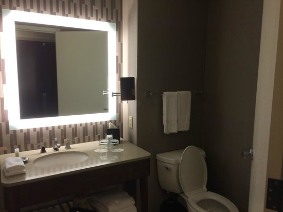 The Westin Birmingham: Bathroom--Nice lighted mirror