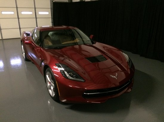 General Motors Corvette Assembly Plant : New c7 picked up and spent its first night tucked away safely in the indoor parking at Spongie A