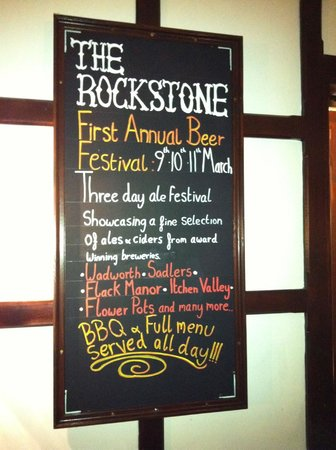 The Rockstone: Keep an eye out for special events