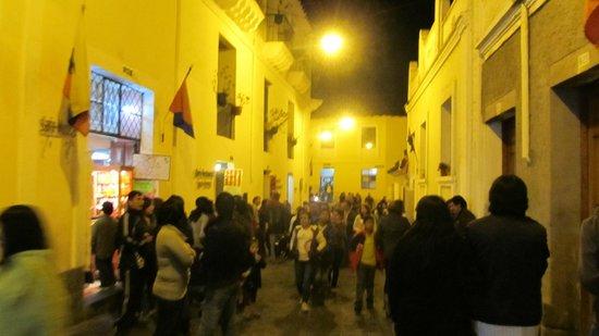 Quito Old Town: La Ronda at night