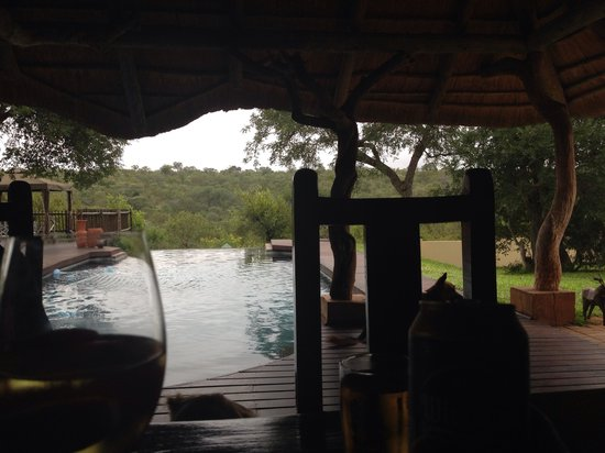 Muweti Bush Lodge: Drinks with a view!