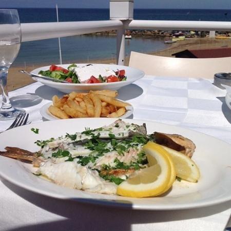 Kalamies Restaurant: a light lunch!! seabream in lemon butter sauce