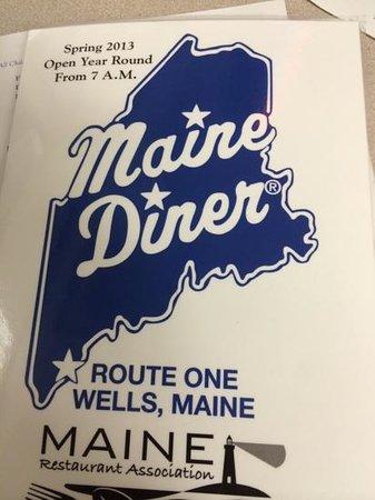 Maine Diner: menu