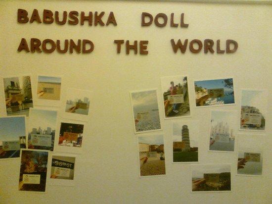 Babushka Doll Hotel: Доска почёта