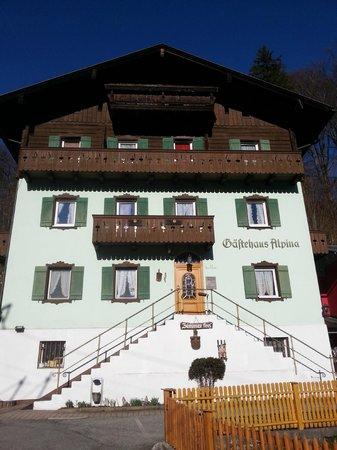 Gastehaus Alpina: Front of Alpina