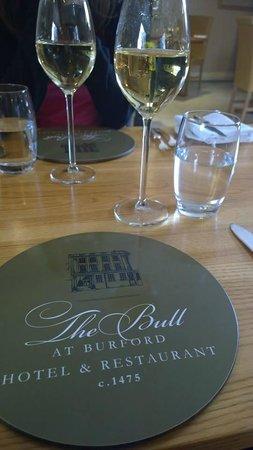 Restaurant at the Bull at Burford Hotel: Riesling