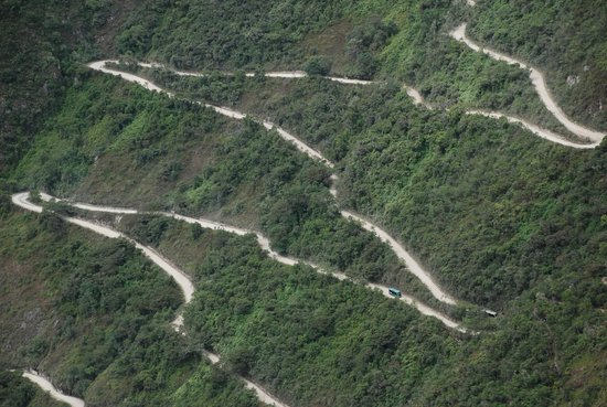 Huayna Picchu : The buses on the Winding Road