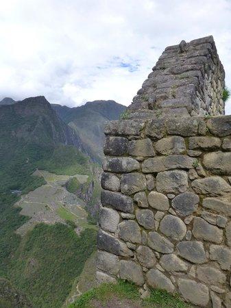 Huayna Picchu : Machu Picchu from Grain Store