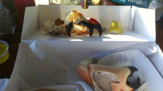 Star Fish Company Dockside Restaurant : Delicious stone crab claws