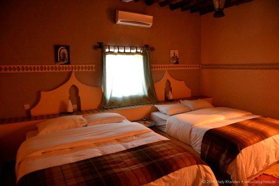 Hotel Kasbah Mohayut: Zimmer mit 2 Doppelbetten