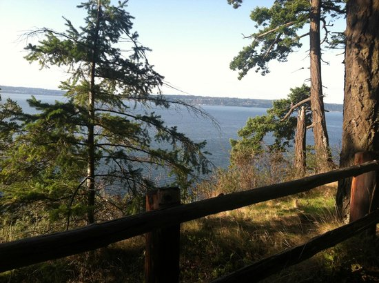 Camano Island State Park: View of Whidby
