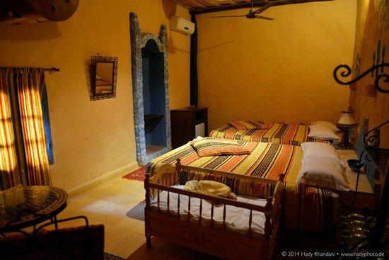 Hotel Kasbah Mohayut : Zimmer mit 2 Doppelbetten