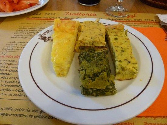 Trattoria da Pezzi : Tortas saladas: de arroz, de verduras, de cebolla