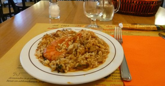 Trattoria da Pezzi: arroz con frutos de mar