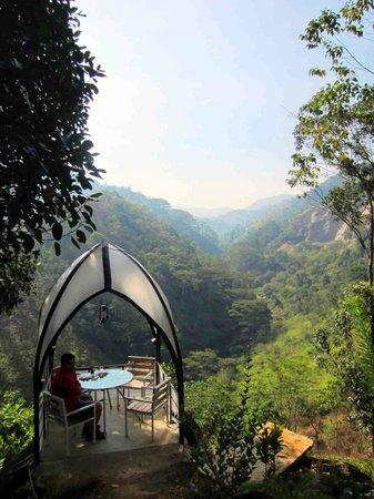Tea Cottages Resort & Spa : outside dining area