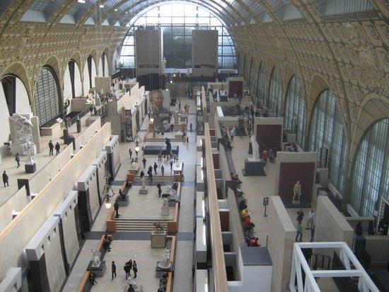 Musée d'Orsay : La galleria centrale del museo, vista dall'alto