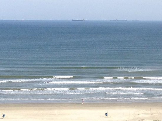 The Galvestonian: View of gulf from balcony of unit # 912