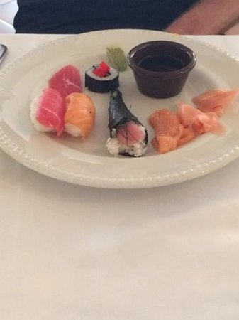 Excellence Riviera Cancun : sushi from Barcelona on a lunchtime