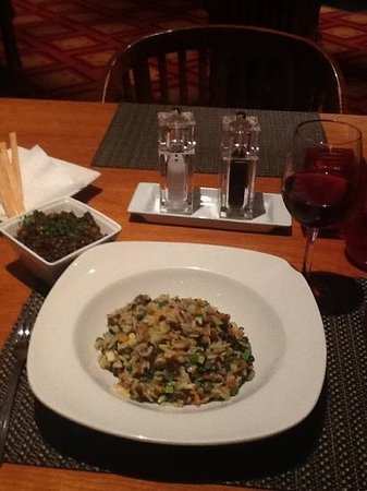 London Heathrow Marriott Hotel: Chef Kunall's Lentil Side and Orzo Veggue Pasta - Amazing Combination
