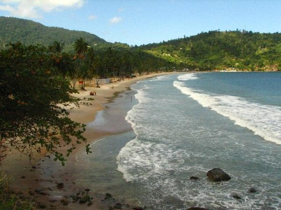Maracas Bay from the Eastern end.