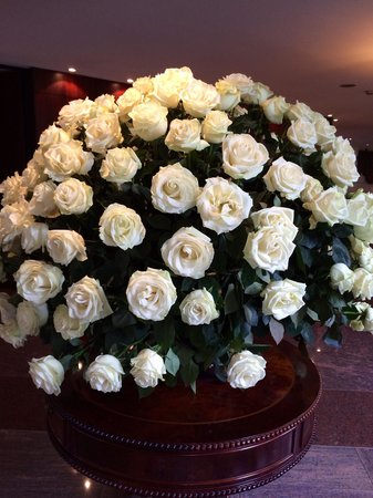 Hilton Colon Quito: Gorgeous, huge rose arrangement in the lobby !