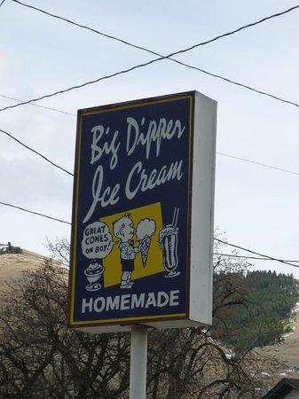 Big Dipper Ice Cream : Big Dipper Sign