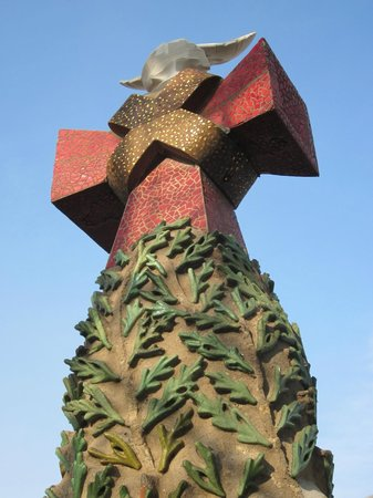 Sagrada Família : Cruz vista desde la parte alta