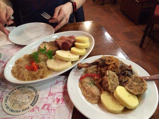 Restaurace Novomestsky Pivovar: Gött käk!