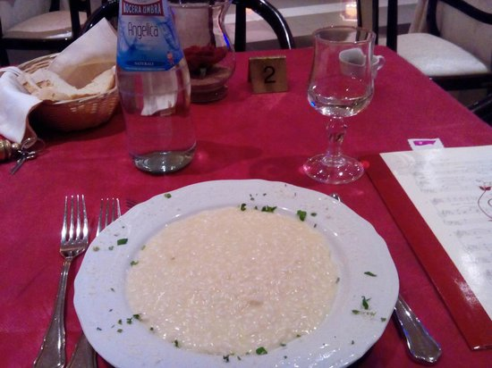 Hotel Puccini: risotto allo champagne